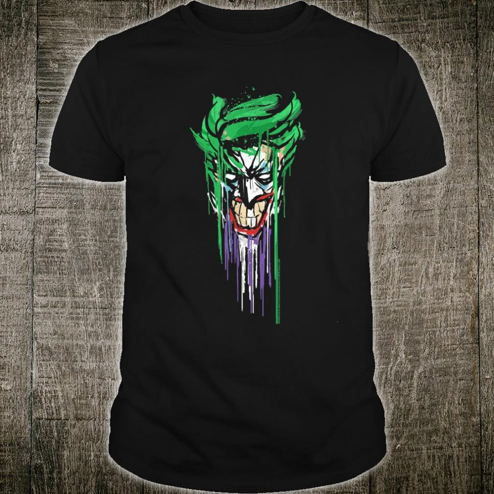Joker DC Fandome Joker Paint Drip Portrait Shirt