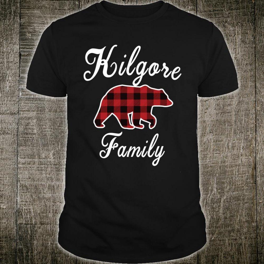 KILGORE Family Bear Red Plaid Shirt