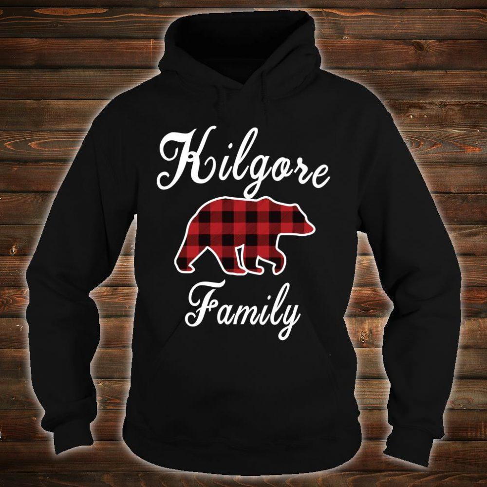 KILGORE Family Bear Red Plaid Shirt hoodie