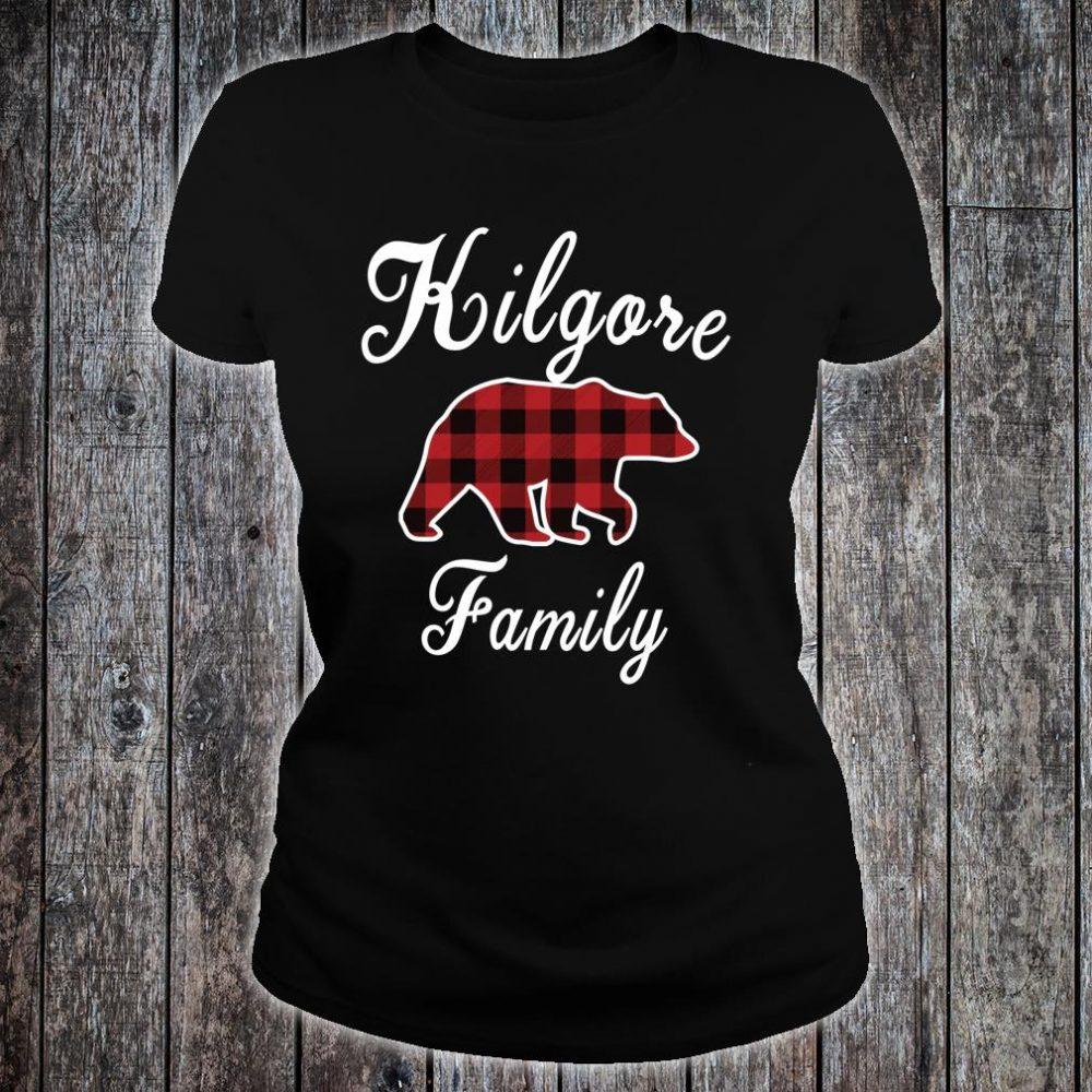 KILGORE Family Bear Red Plaid Shirt ladies tee