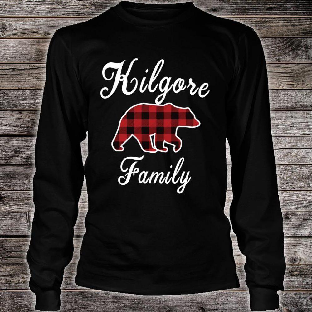 KILGORE Family Bear Red Plaid Shirt long sleeved