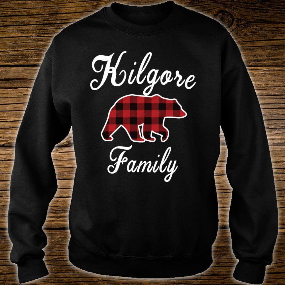 KILGORE Family Bear Red Plaid Shirt sweater