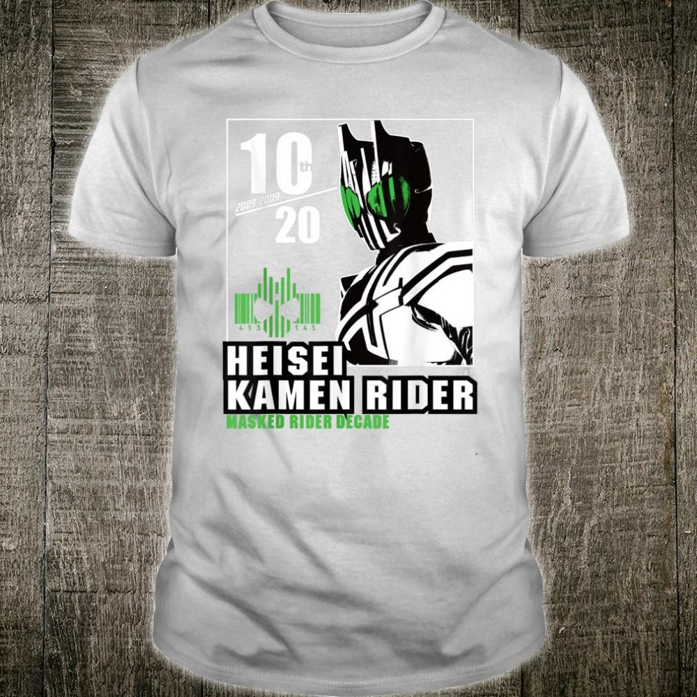 Kamen Rider Decade Heisei Rider Anniversary Shirt
