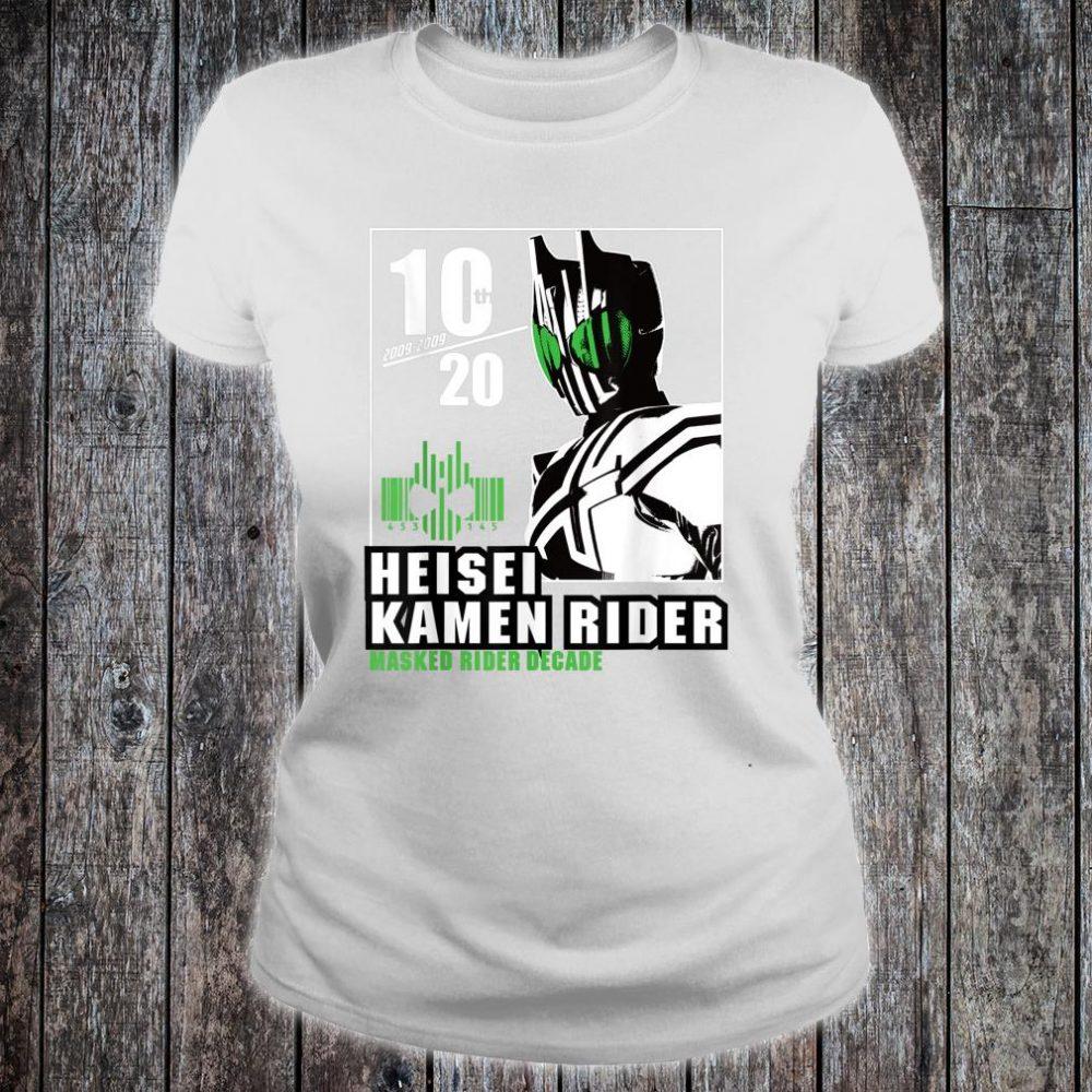 Kamen Rider Decade Heisei Rider Anniversary Shirt ladies tee