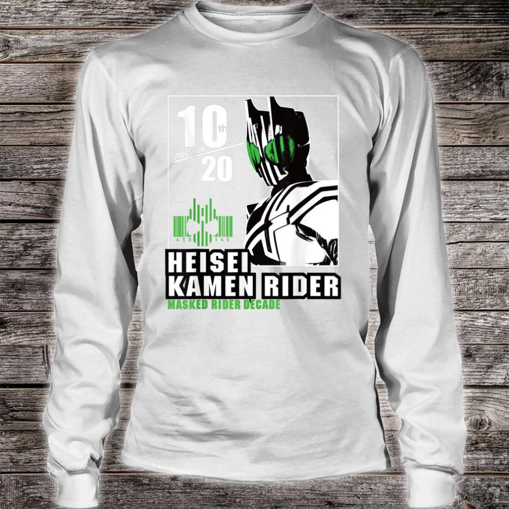 Kamen Rider Decade Heisei Rider Anniversary Shirt long sleeved