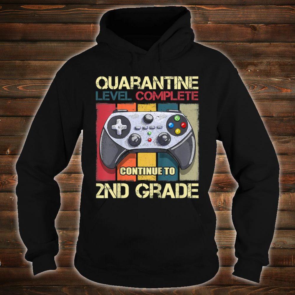 Kids Quarantine Level Complete Back To School 2nd Grade Gamer Shirt hoodie