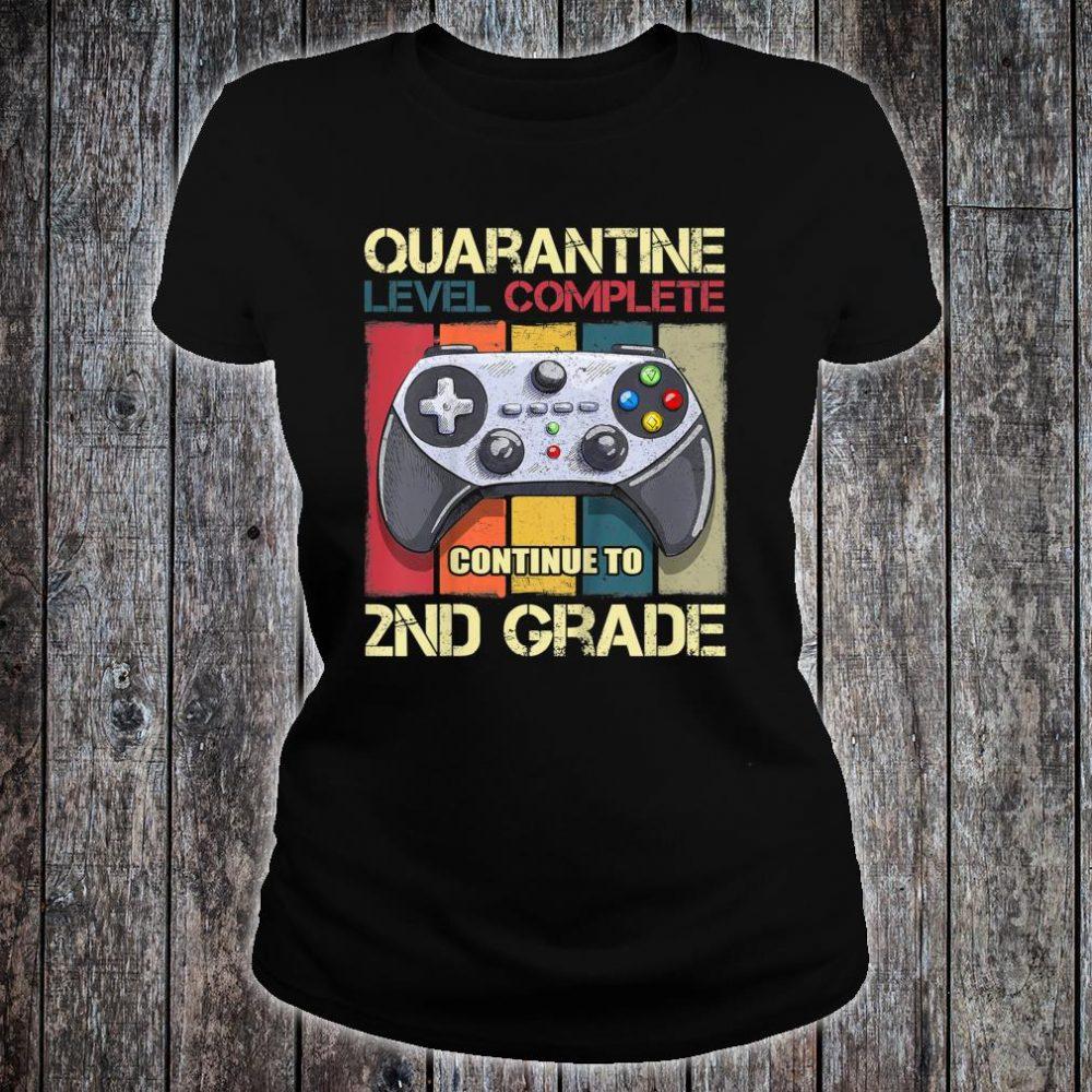 Kids Quarantine Level Complete Back To School 2nd Grade Gamer Shirt ladies tee