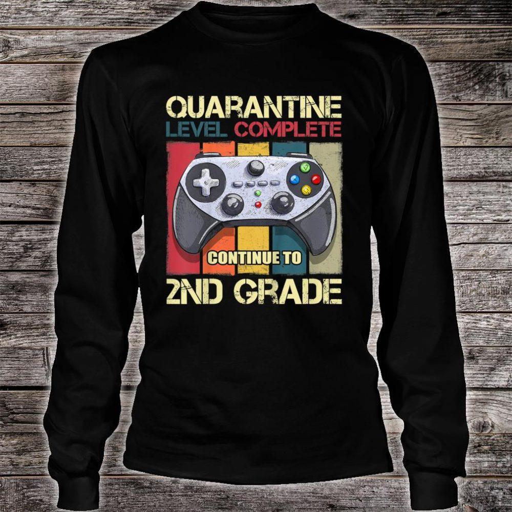 Kids Quarantine Level Complete Back To School 2nd Grade Gamer Shirt long sleeved