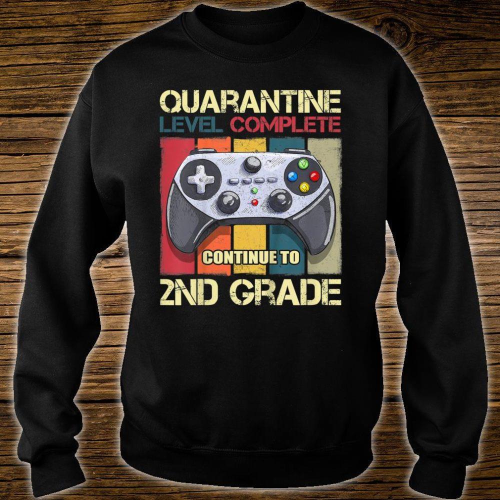 Kids Quarantine Level Complete Back To School 2nd Grade Gamer Shirt sweater