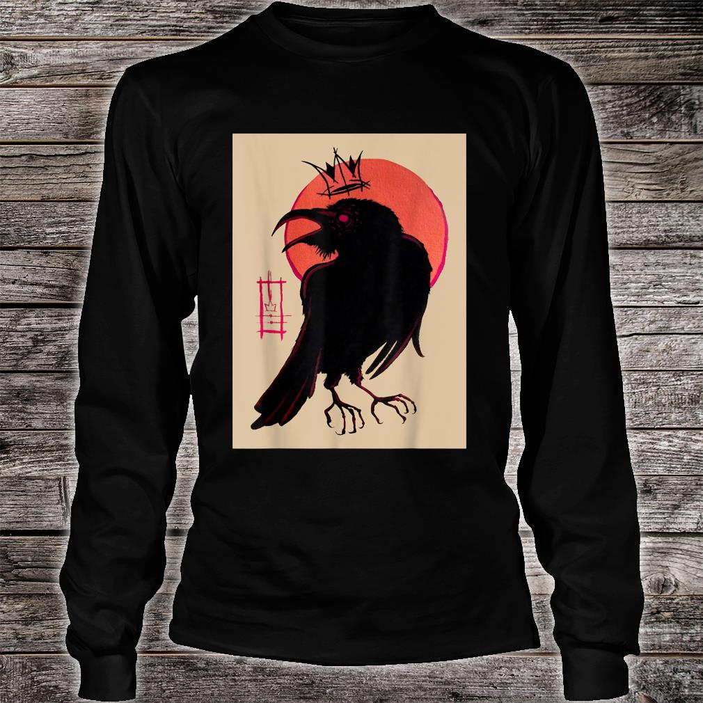 King of the Corvids for Fans of Crows and Ravens Shirt long sleeved