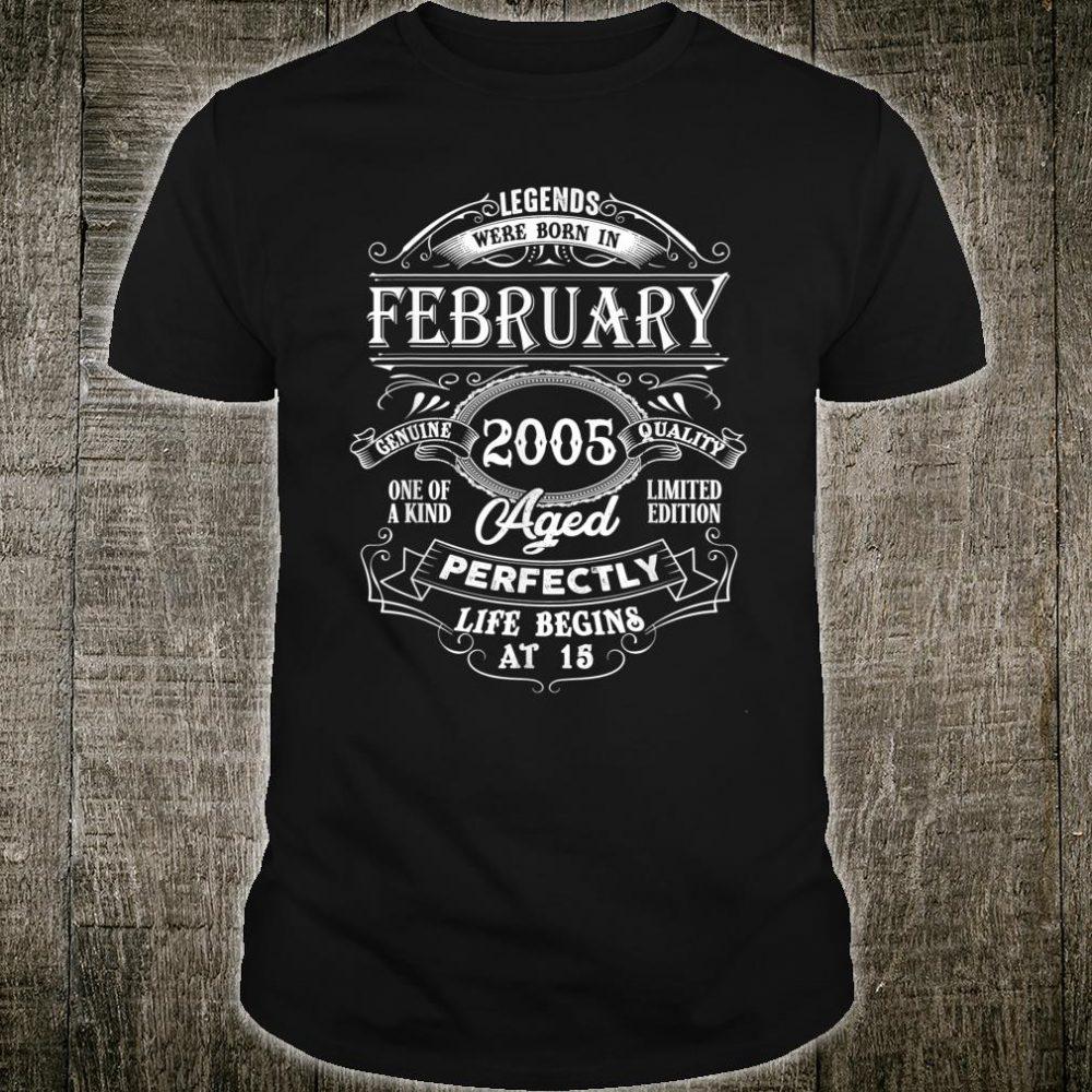Legends Were Born In February 2005 Shirt