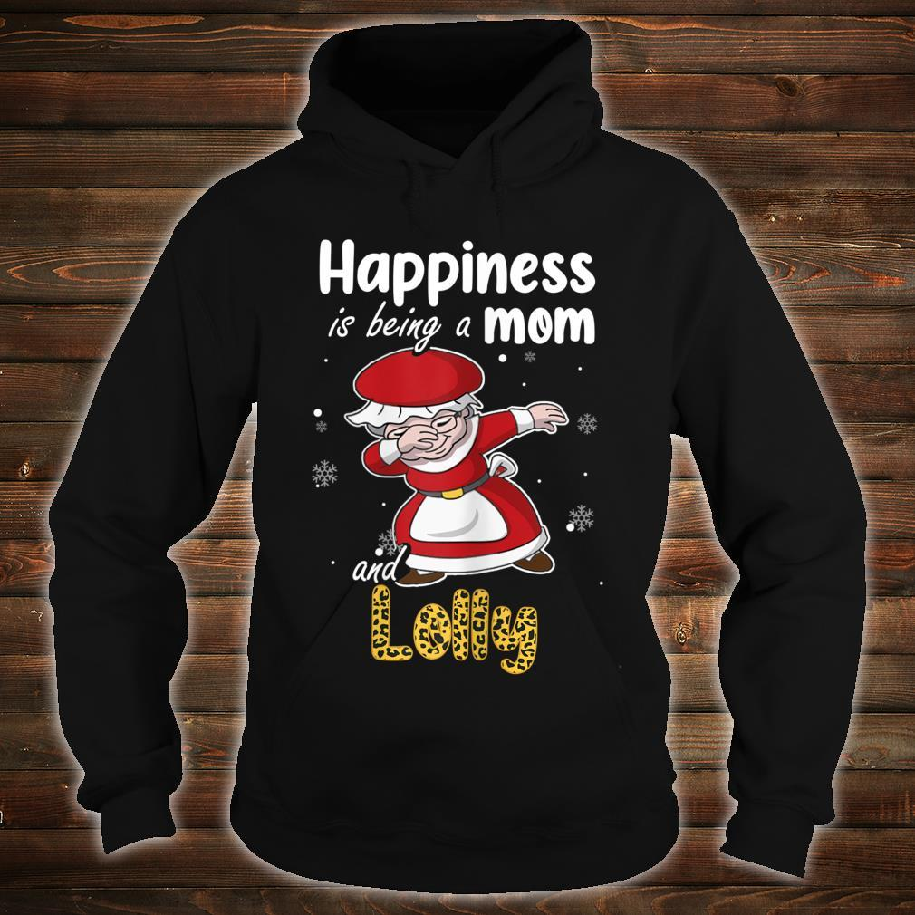 Leopard Grandma Shirt Happiness is being a Mom and Lolly Shirt hoodie