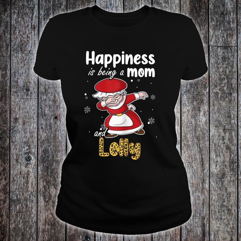 Leopard Grandma Shirt Happiness is being a Mom and Lolly Shirt ladies tee