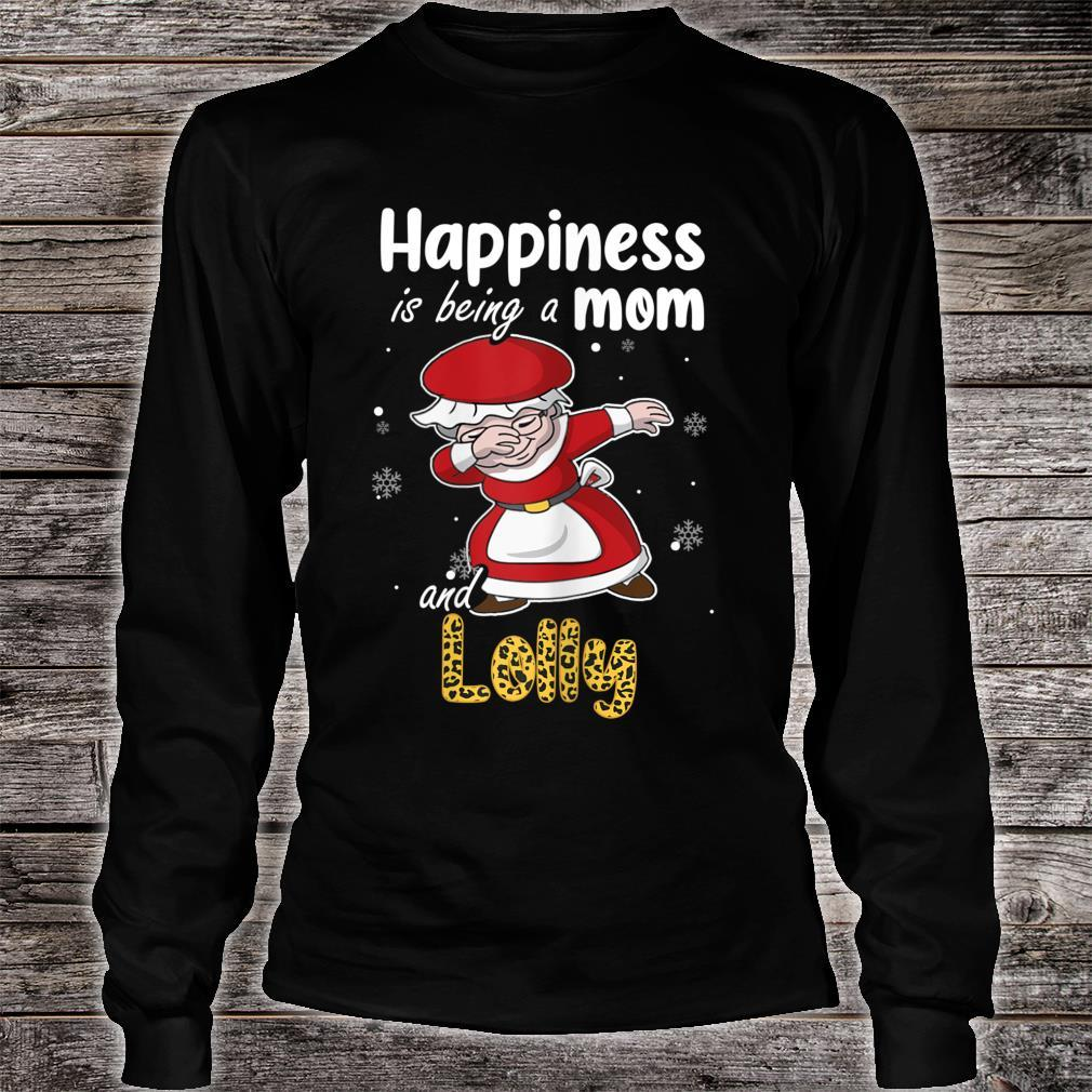 Leopard Grandma Shirt Happiness is being a Mom and Lolly Shirt long sleeved