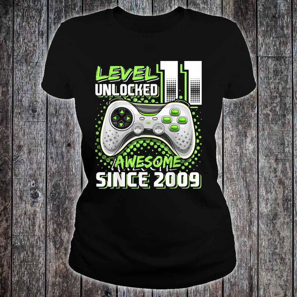 Level 11 Unlocked Awesome 2009 Video Game 11th Birthday Shirt ladies tee