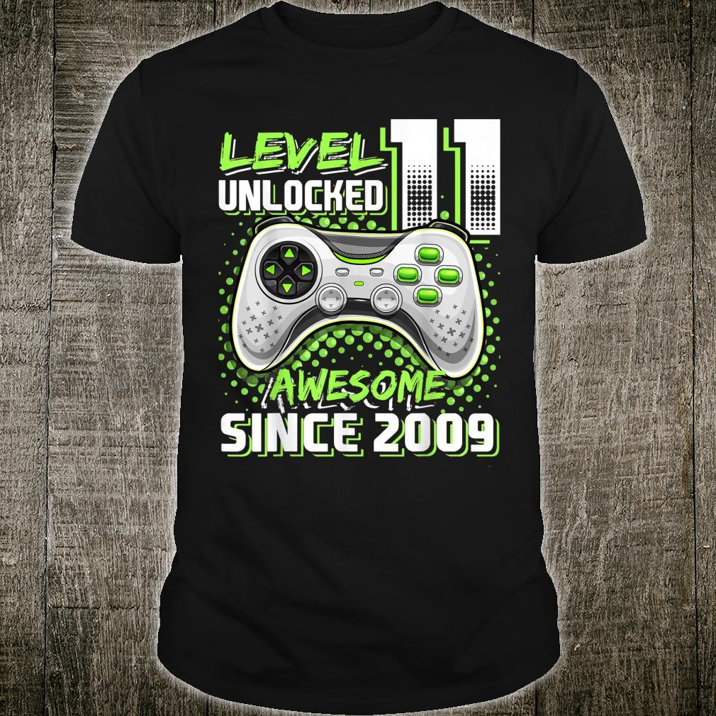 Level 11 Unlocked Awesome 2009 Video Game 11th Birthday Shirt