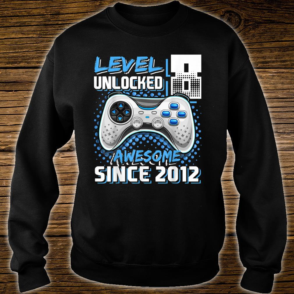 Level 8 Unlocked Awesome Since 2012 Video Game 8th Birthday Shirt sweater