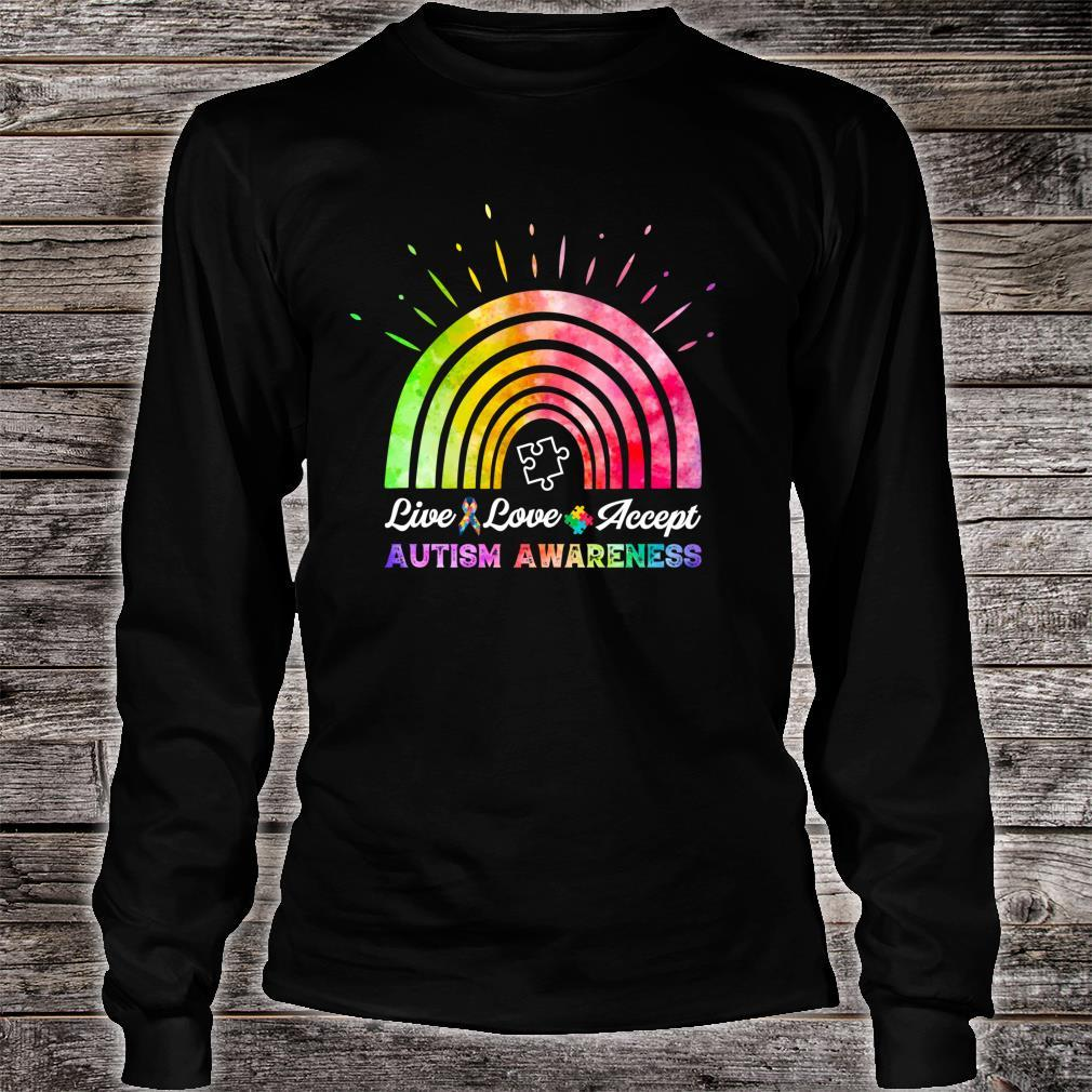 Live Love Accept Autism Awareness Autism Mom Shirt long sleeved