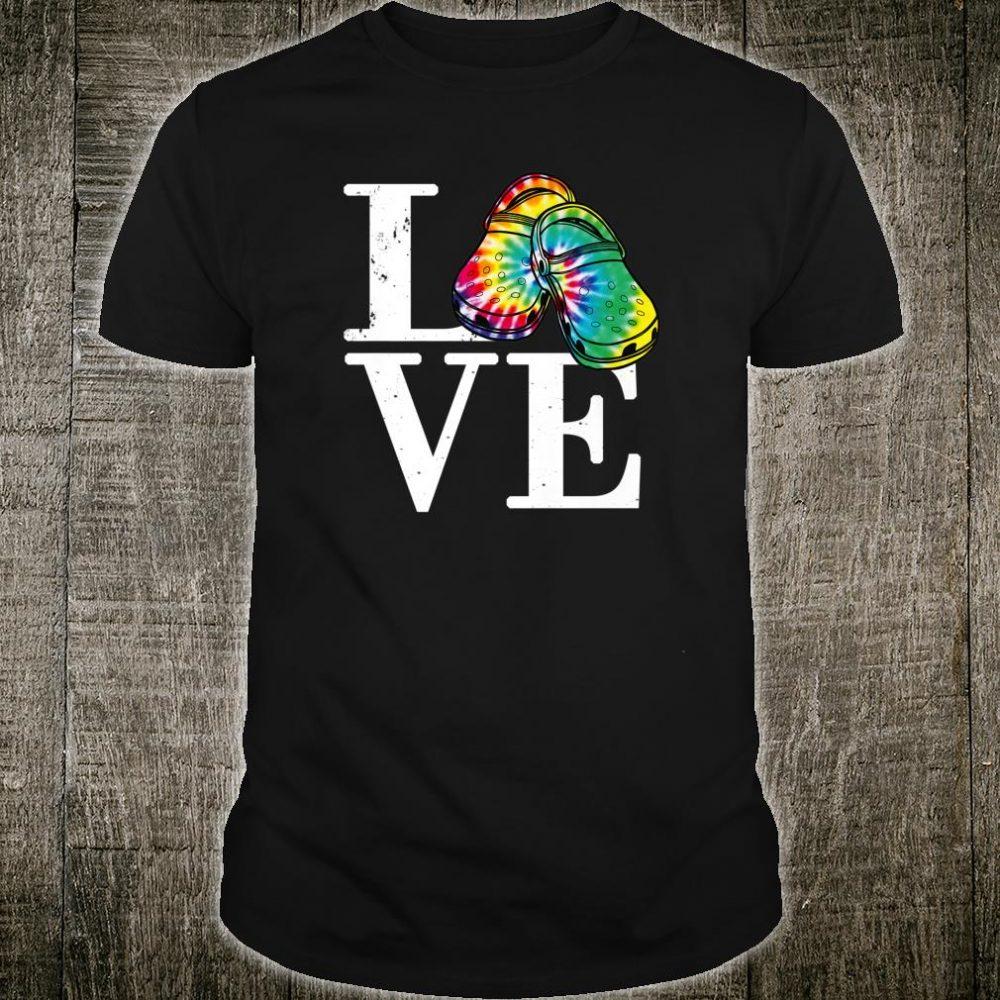Love Croc Tie Dye Shirt