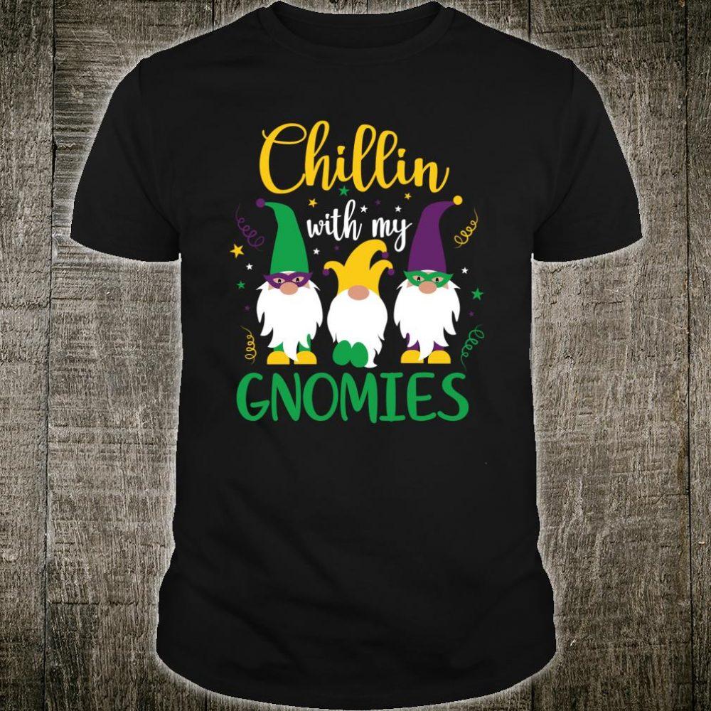 Mardi Gras Chillin With My Gnomies Cute Gnome Shirt