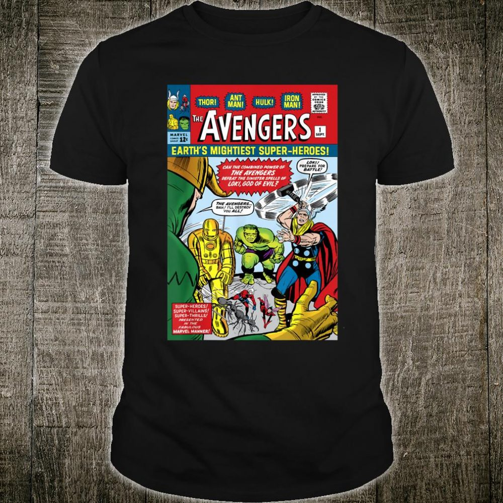 Marvel Avengers First Issue Comic Cover Shirt