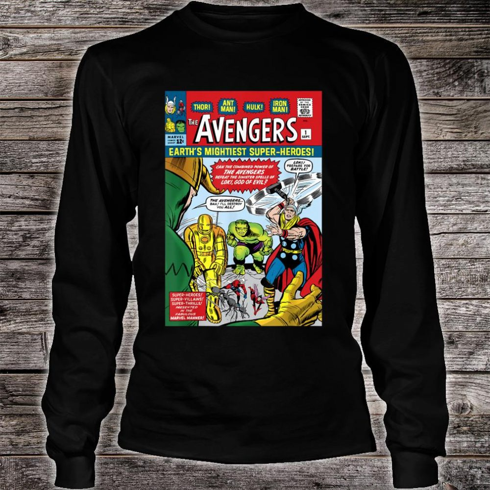 Marvel Avengers First Issue Comic Cover Shirt long sleeved
