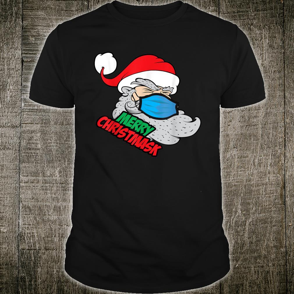 Mask Wearing Quarantine Santa Christmas Novelty Shirt