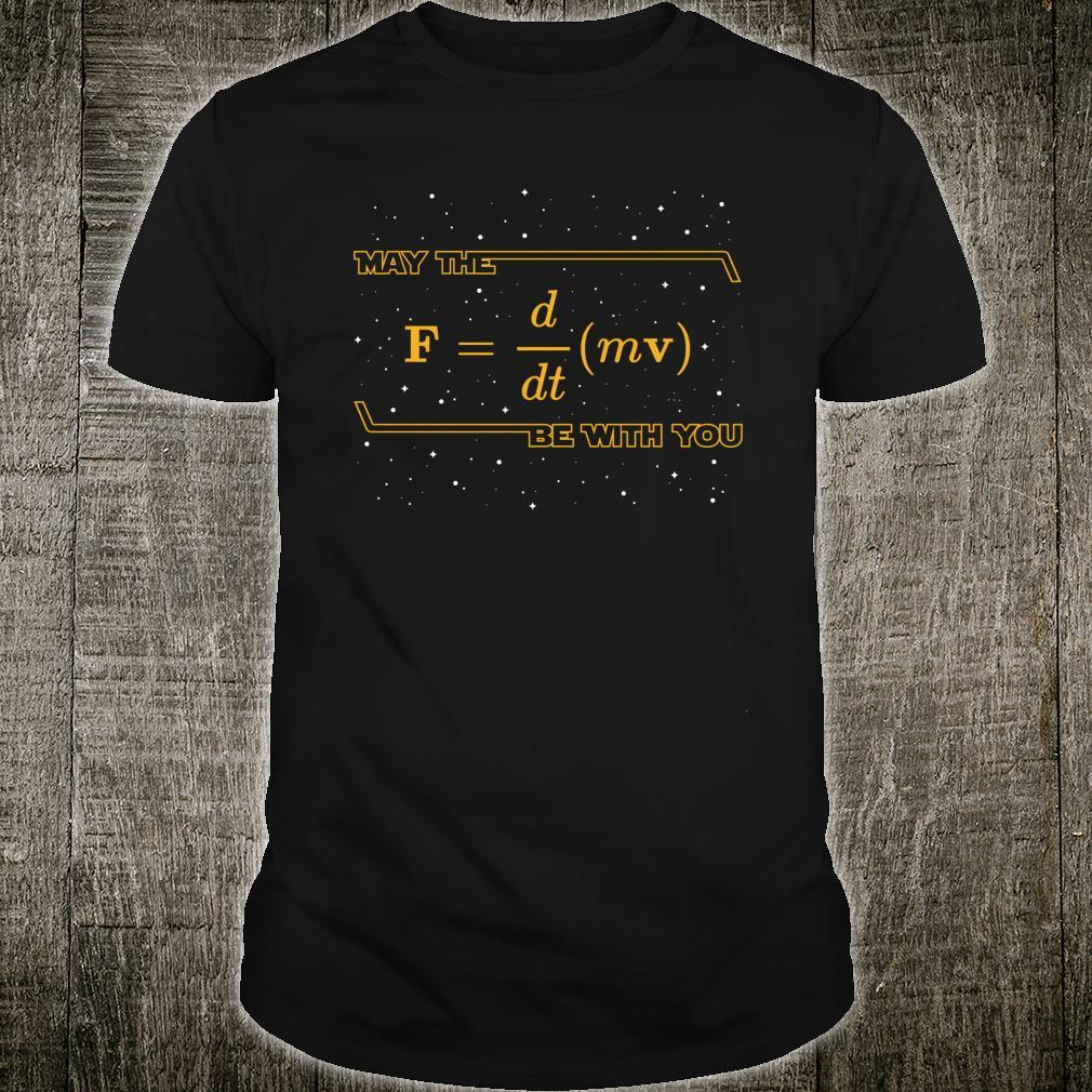 May The F = m dvdt Be with You Physics Geek Shirt