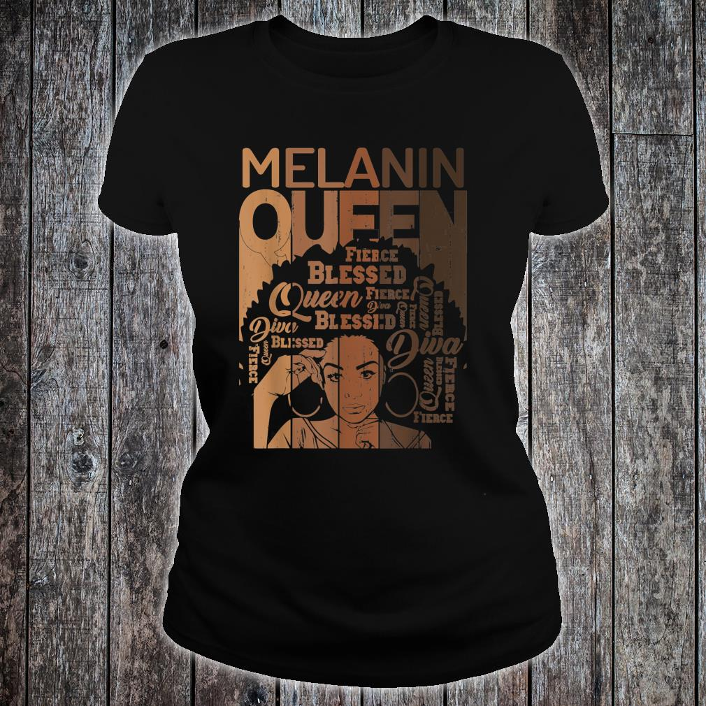 Melanin Queen African American Strong Black Natural Shirt ladies tee
