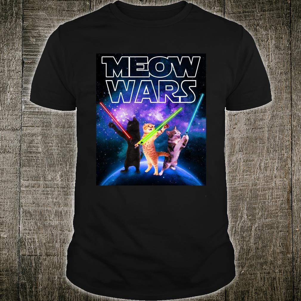 Meow Wars Cat Space Kitty For Catss Shirt