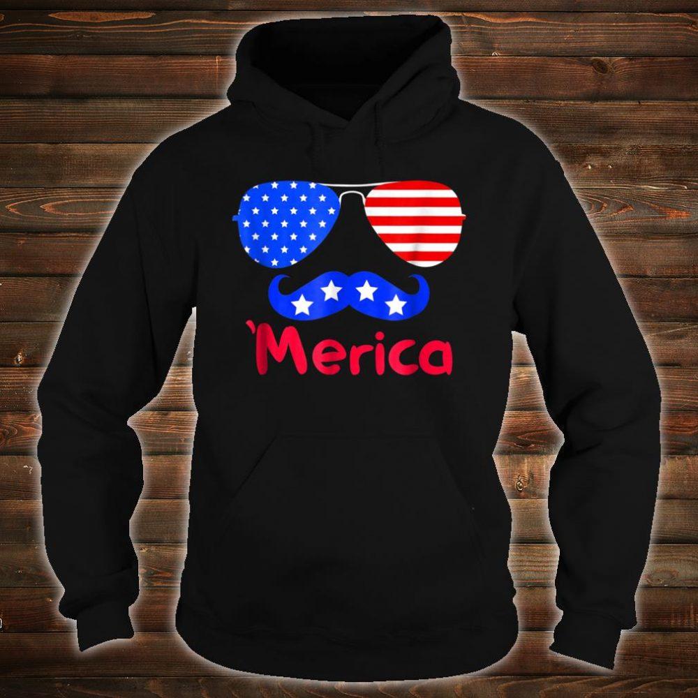 'Merica Glasses Mustache American Flag shirt hoodie