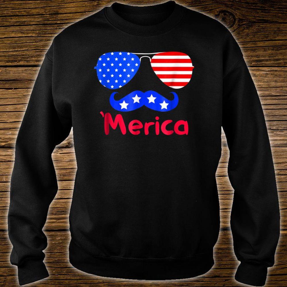 'Merica Glasses Mustache American Flag shirt sweater