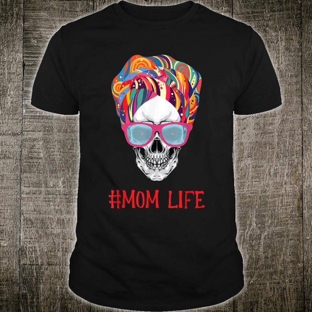 Mom Life Skull Turban African Happy Halloween Party Costume Shirt