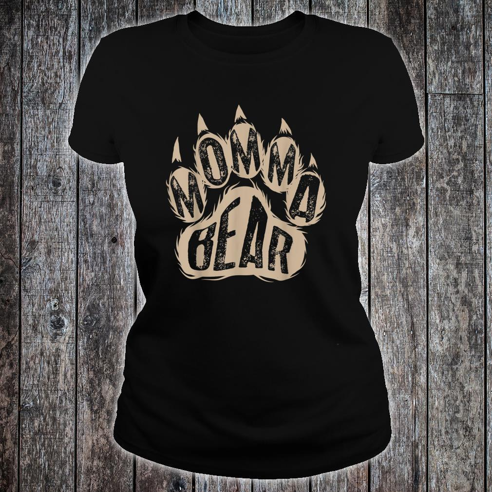 Momma Bear Wild Animal Mothers Day Shirt ladies tee