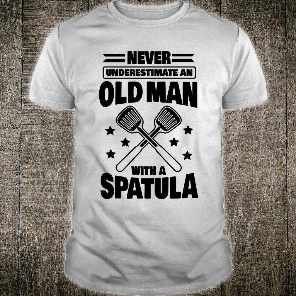 Never Underestimate an Old Man with a Spatula Shirt