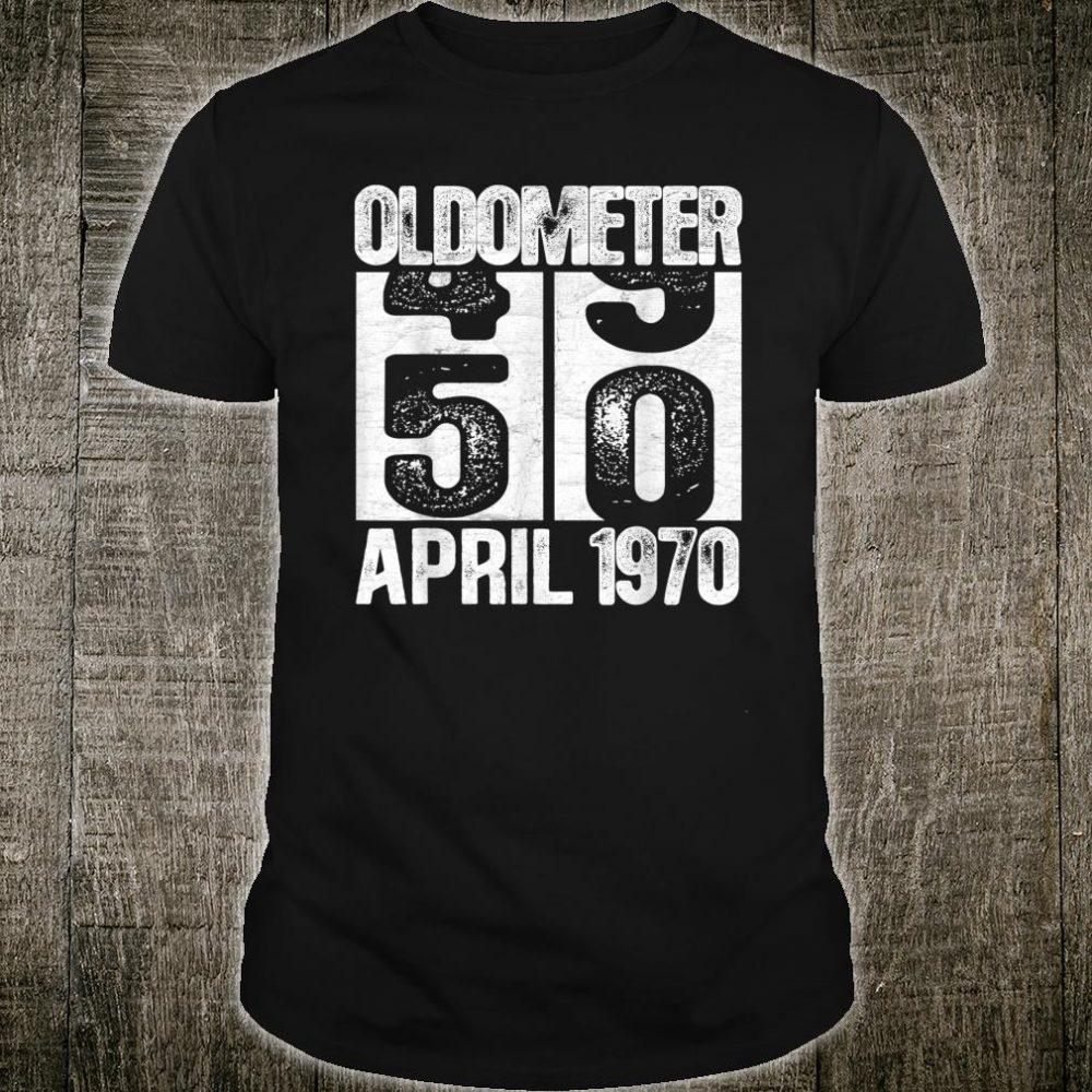 Oldometer 49-50 Born In April 1970 Turning Shirt