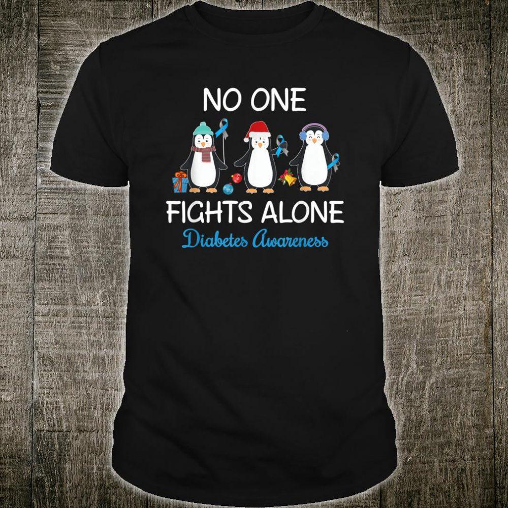 Penguin No One Fight Alone Diabetes Awareness Shirt