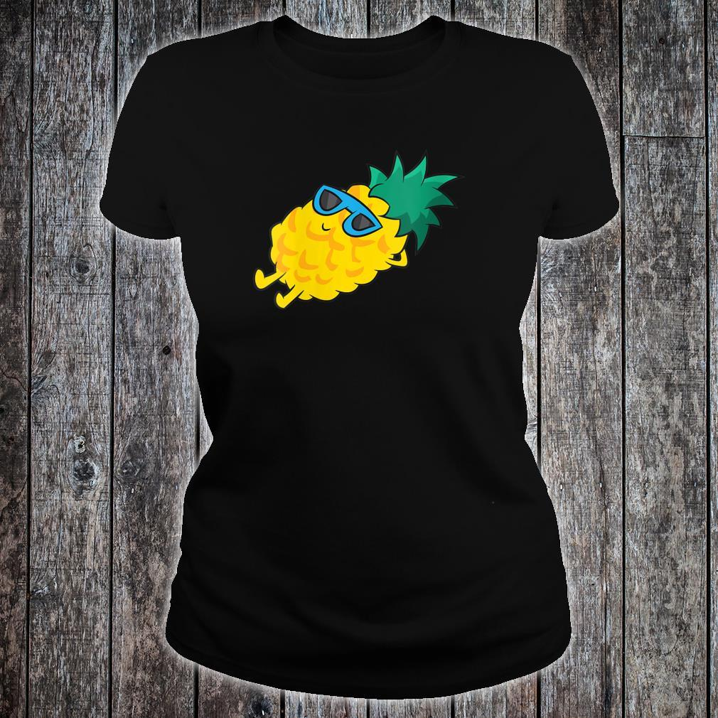 Pineapple Summer Fruit Sunglasses Cute Pineapple Shirt ladies tee