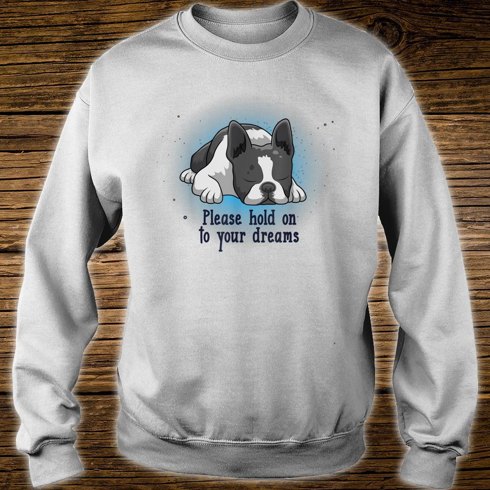 Please Hold On To Your Dreams Boston Terrier Shirt sweater