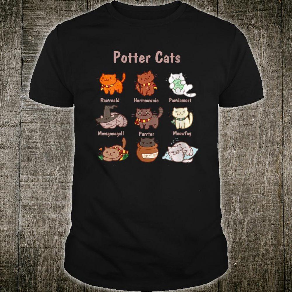 Potter Cats Cute Harry Pawter Kitten Shirt