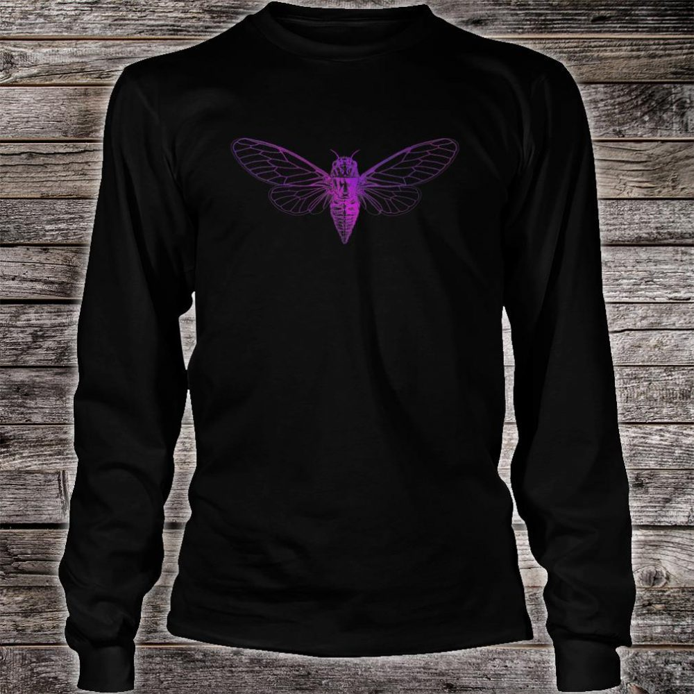 Psychedelic Cicada Insect Lover Groovy Entomologist Pretty Shirt long sleeved