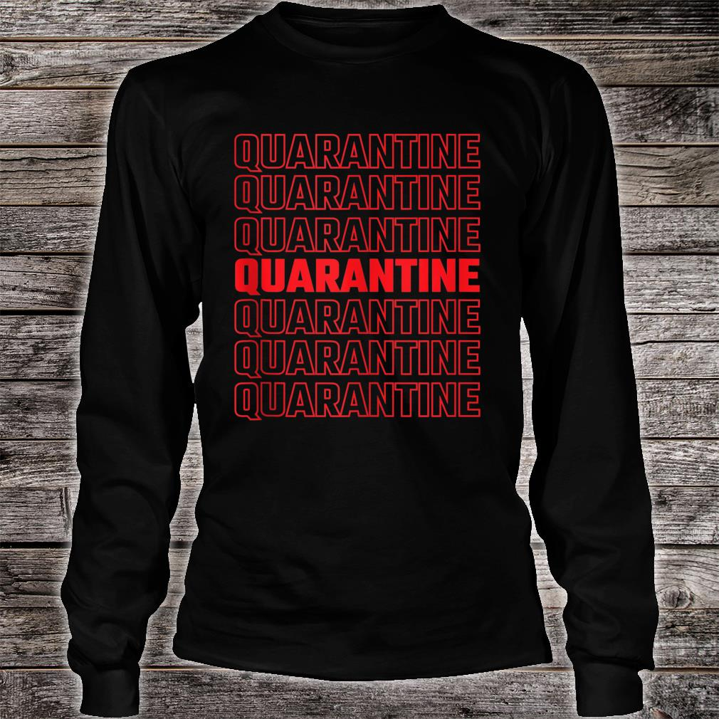 Quarantine Pattern 2020 Shirt long sleeved