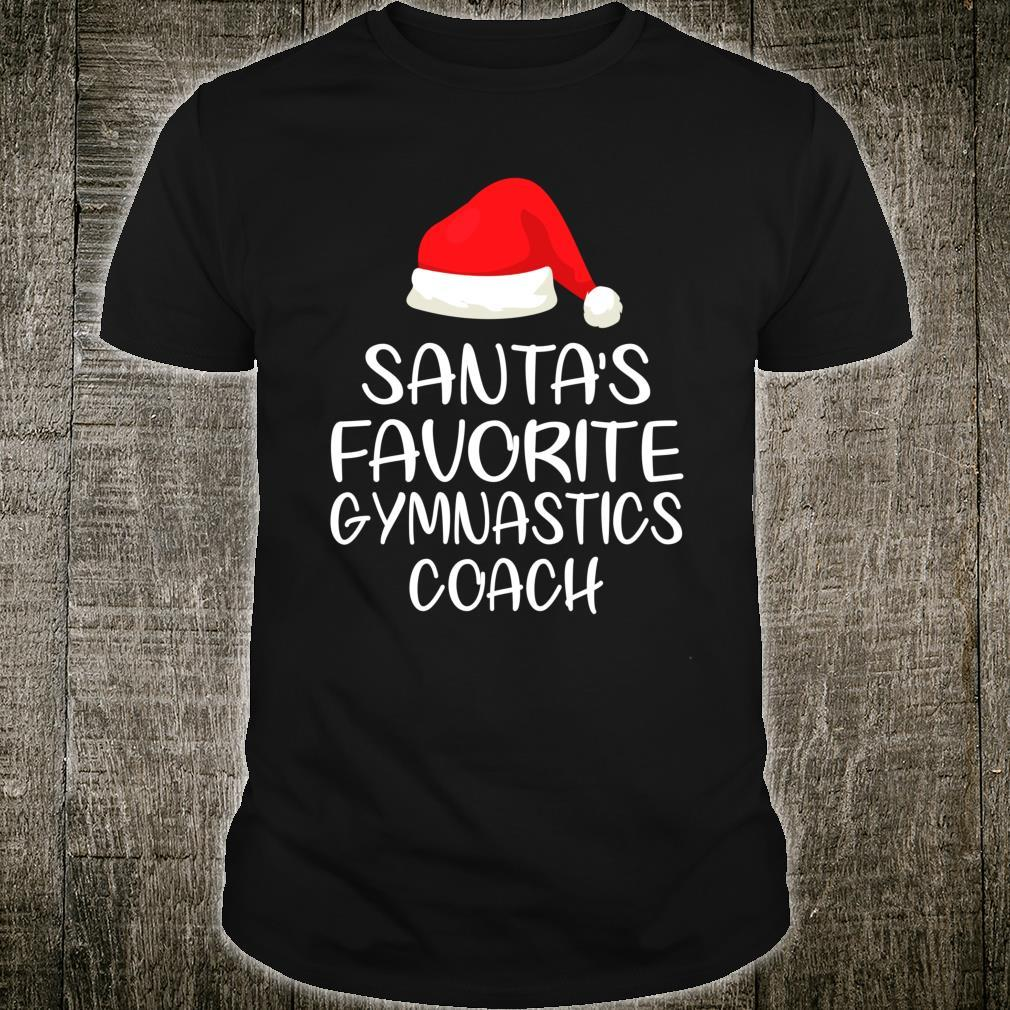 Santa's Favorite Gymnastics Coach Shirt