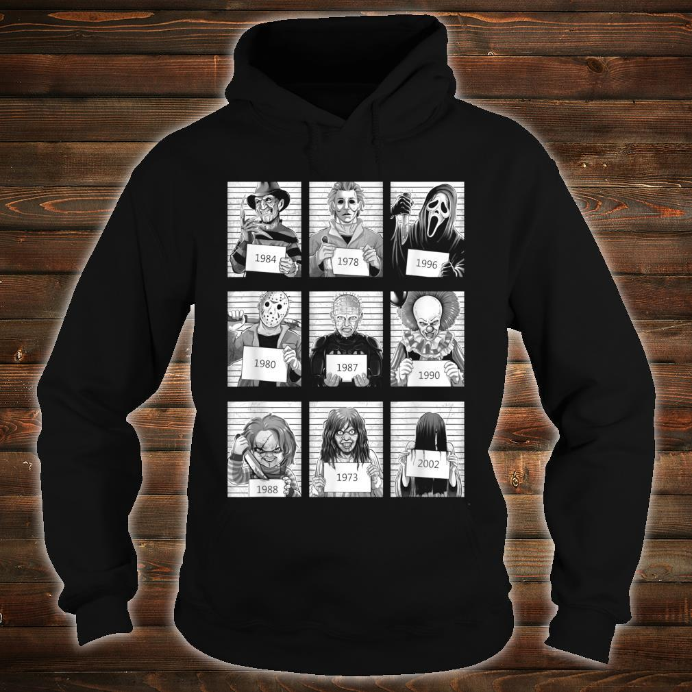 Scary Halloween Horror Characters Mug Shot Costume Shirt hoodie