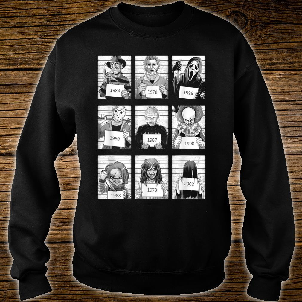 Scary Halloween Horror Characters Mug Shot Costume Shirt sweater