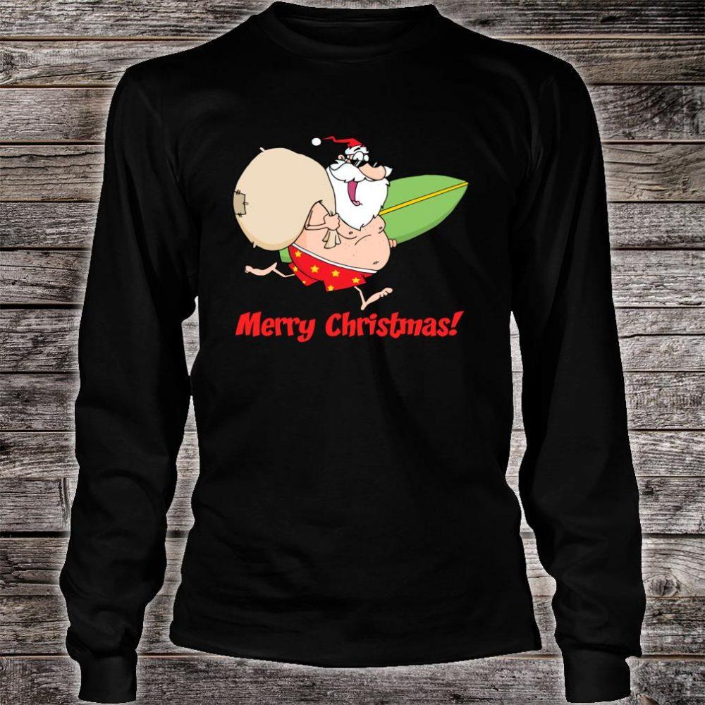 Summer Beach Merry Christmas Shirt long sleeved