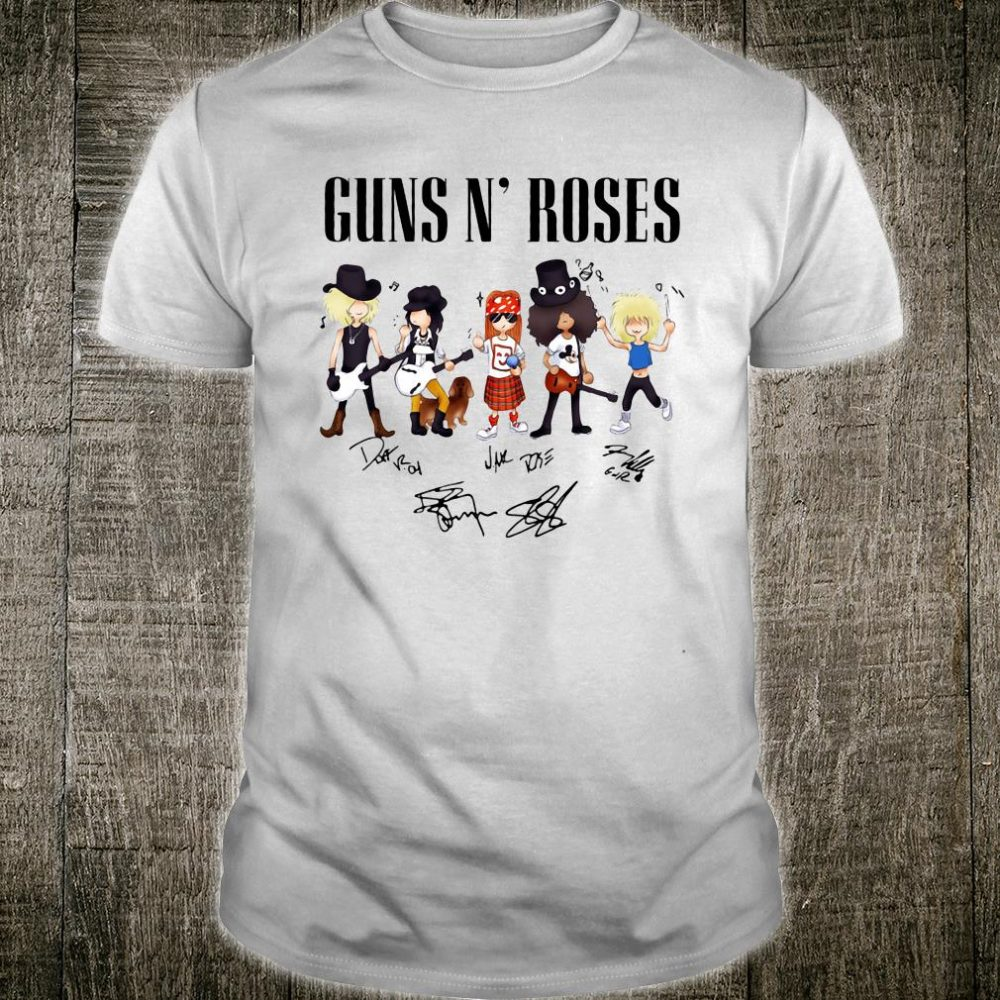 Sun n' Roses signatures shirt