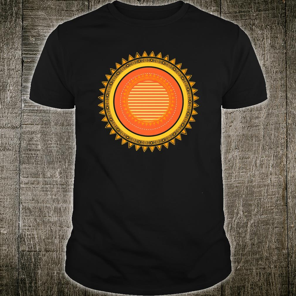 Sunshine Design with Stripes in Orange and Yellows Shirt