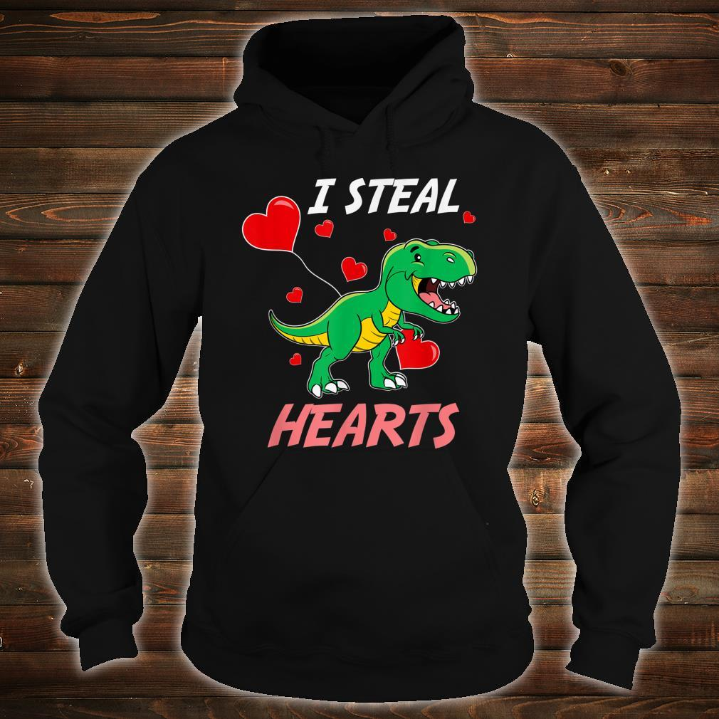 TRex I Steal Hearts Valentine's Day Shirt hoodie