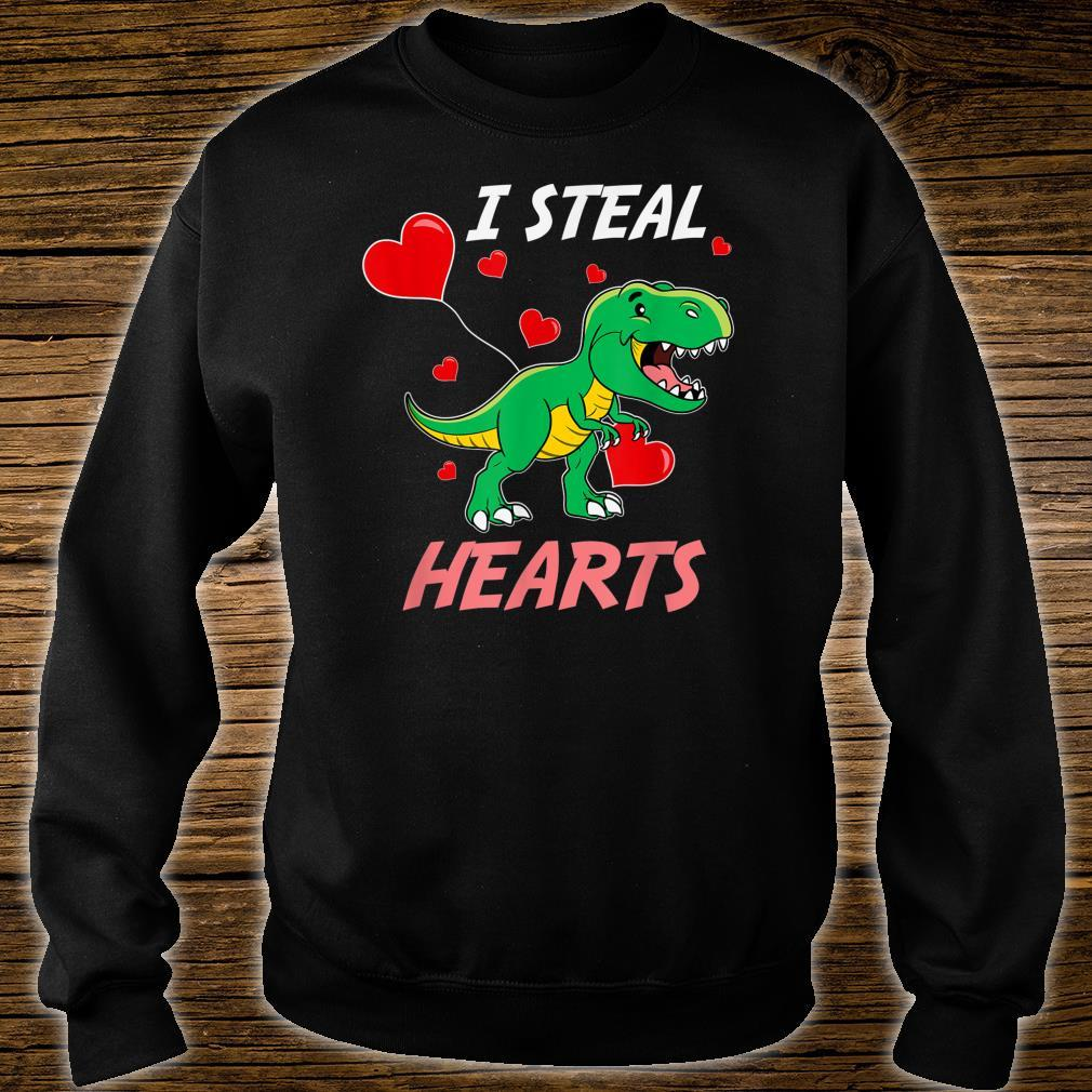 TRex I Steal Hearts Valentine's Day Shirt sweater